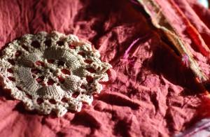 BT4 shot cotton scarf doily